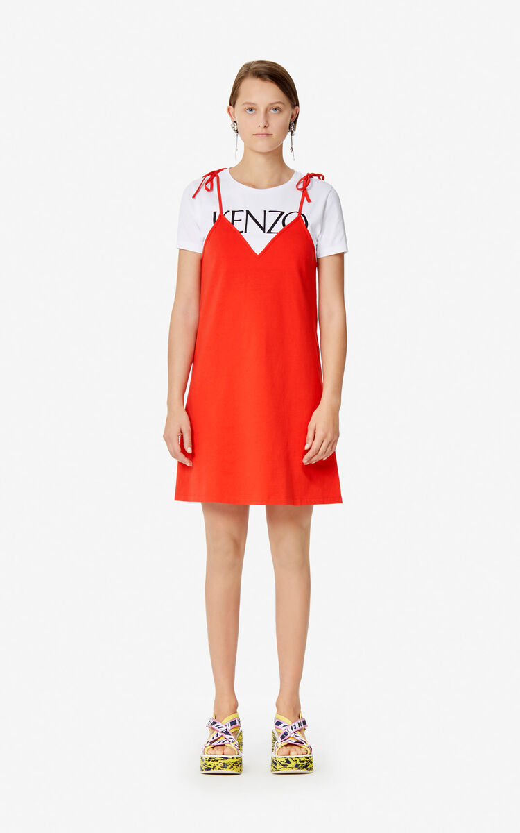 MEDIUM RED 2-in-1 dress 'High Summer Capsule collection' for women KENZO
