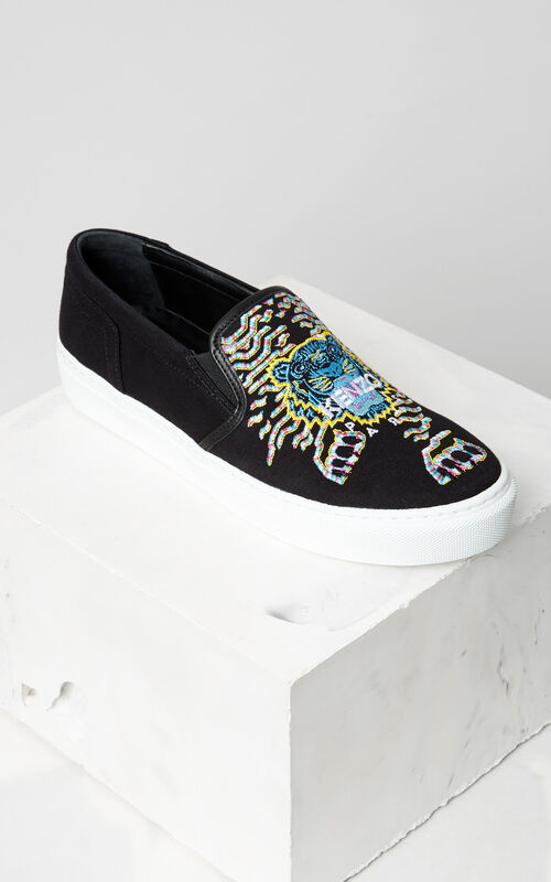 Géo-Tiger x Rainbow  Slip-on, BLACK, KENZO