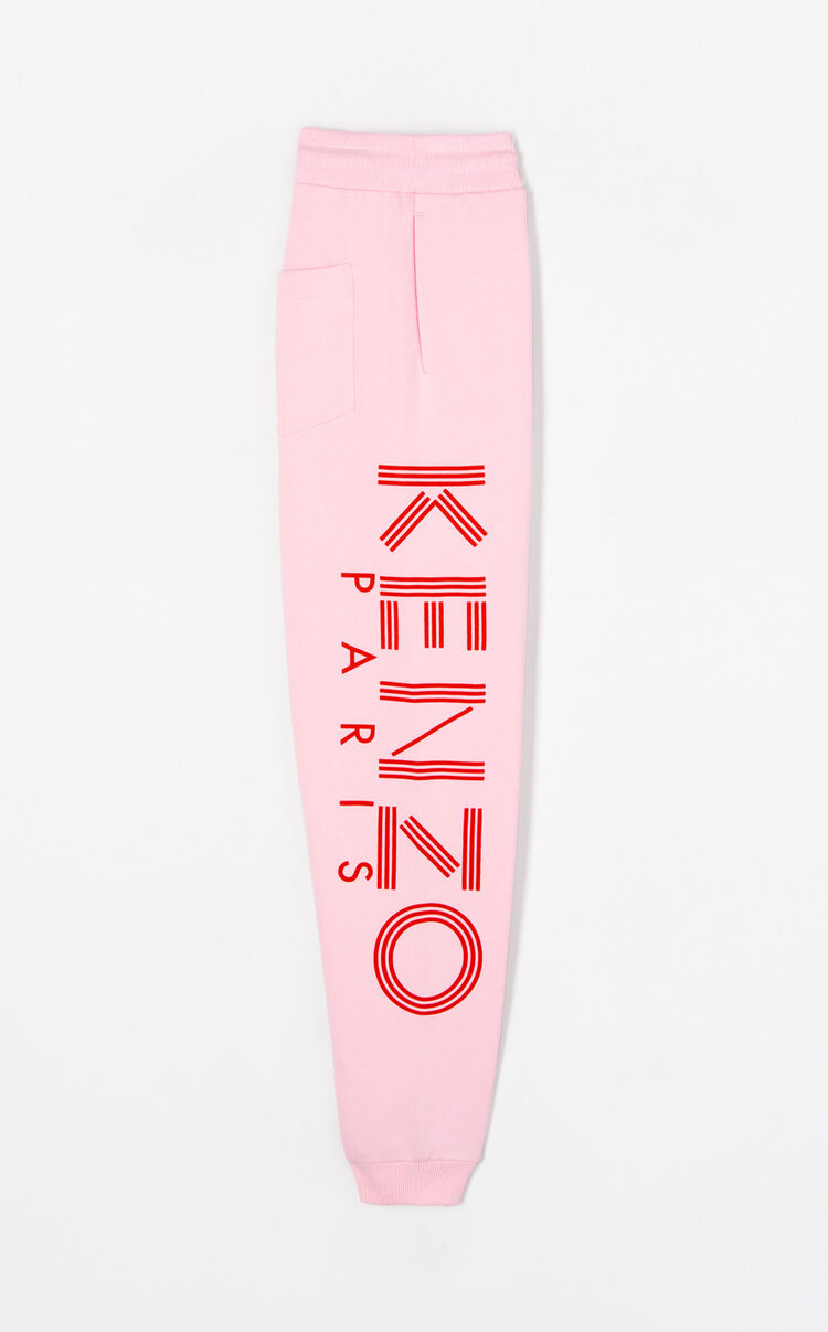 FLAMINGO PINK KENZO Logo Joggers for women