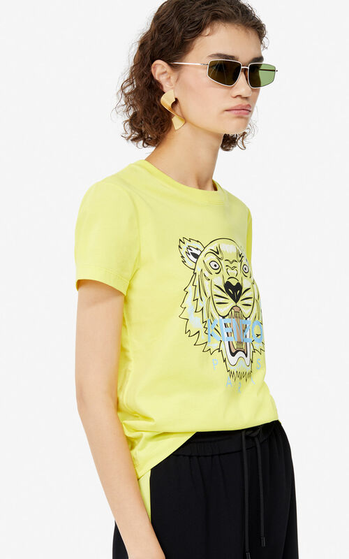63093def GOLDEN YELLOW Tiger t-shirt for women KENZO ...
