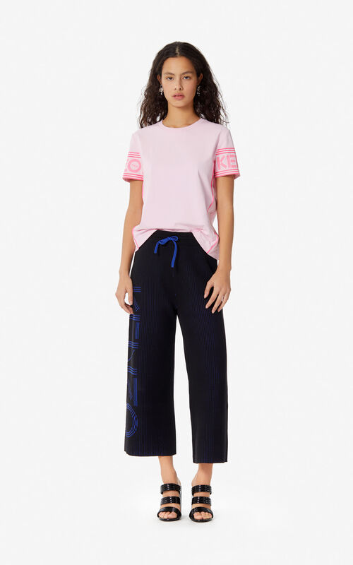 BLACK KENZO Logo trousers for women