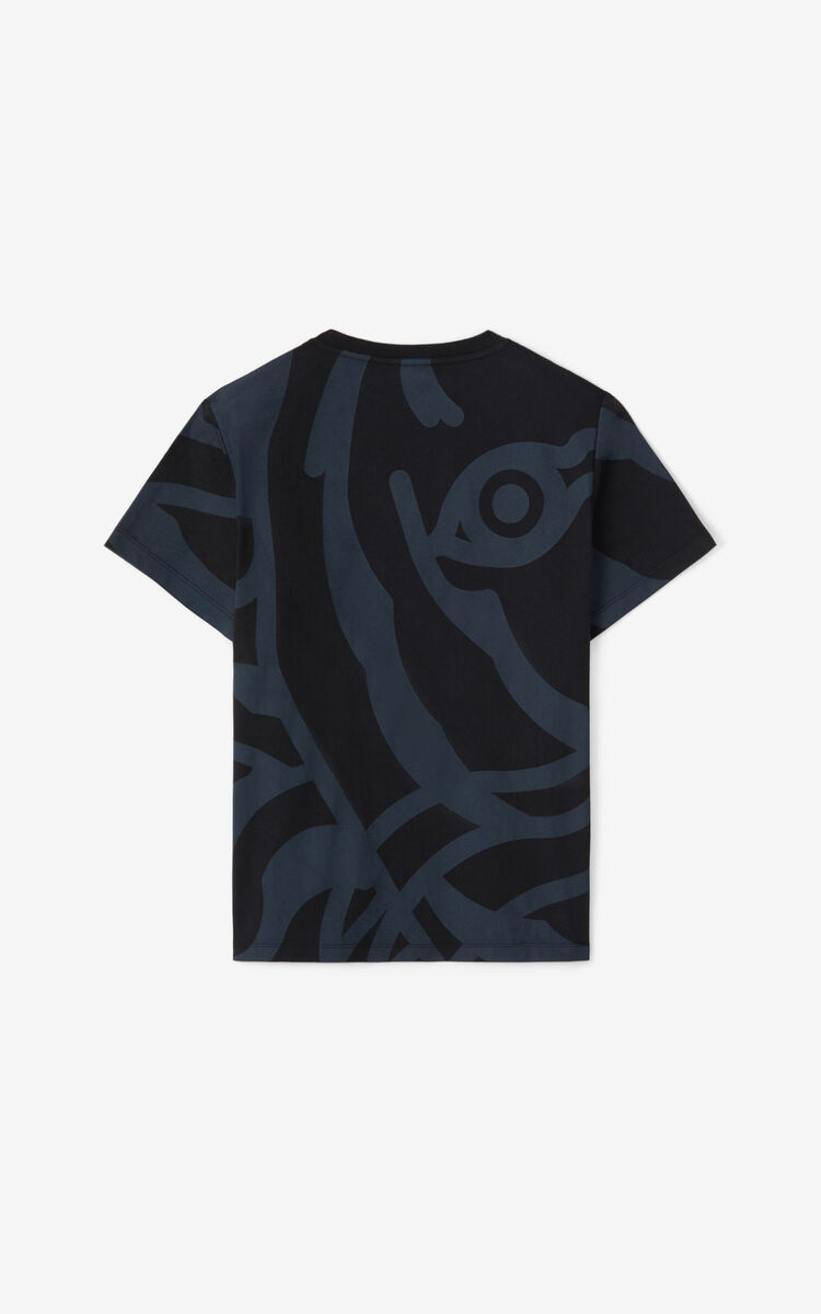 BLACK K-Tiger T-shirt for women KENZO