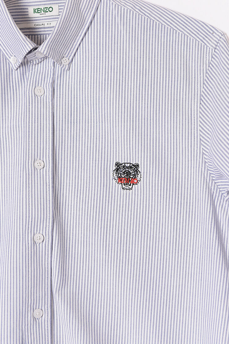 PERRIWINKLE Tiger Crest striped shirt for men KENZO