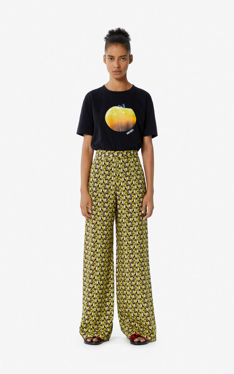 BORDEAUX 'Running Tiger' trousers for women KENZO