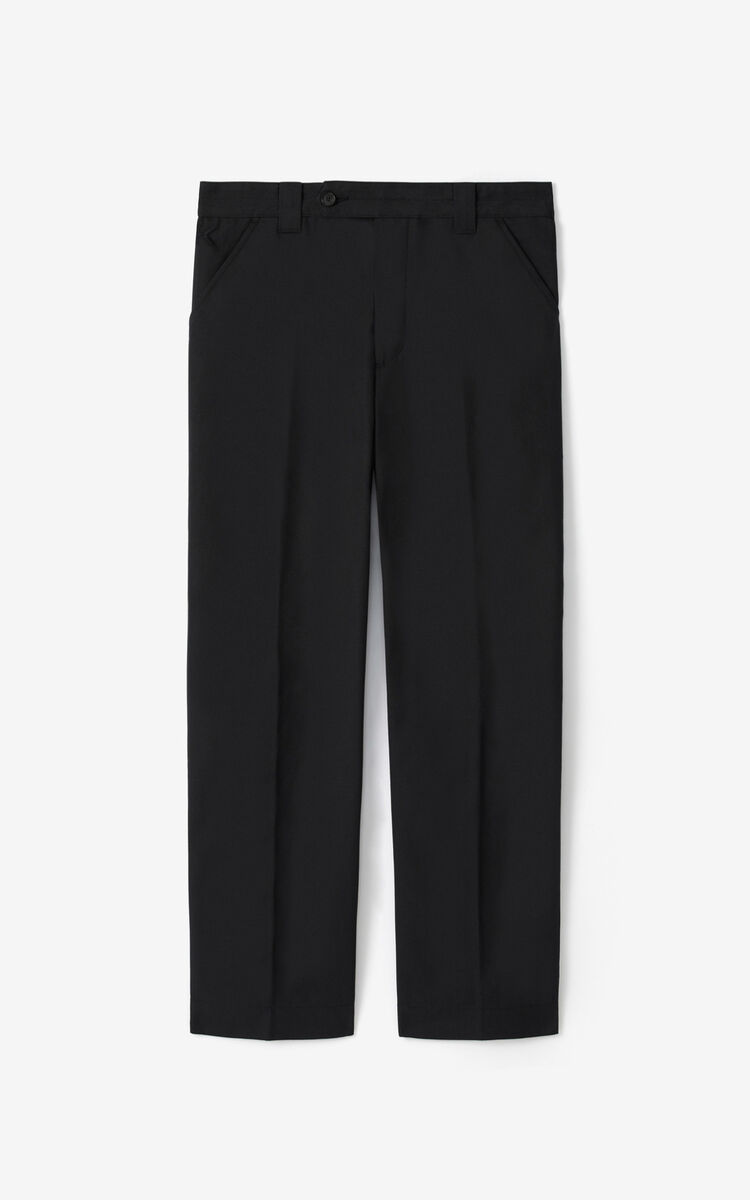 BLACK Cropped trousers for women KENZO