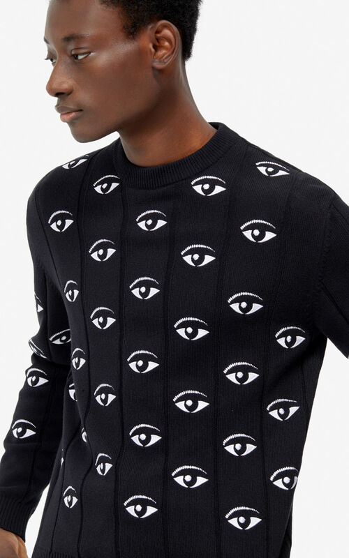BLACK Multi-eye jumper for men KENZO