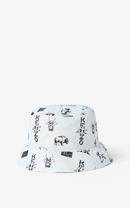 OFF WHITE 'Chinese New Year Capsule' 'Sign & Symbol' sun hat for unisex KENZO