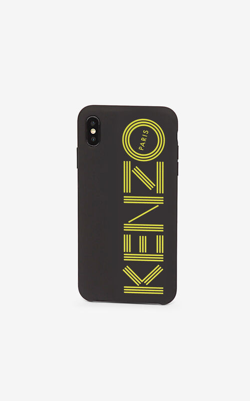 GOLDEN YELLOW KENZO logo iPhone XS Max case for unisex