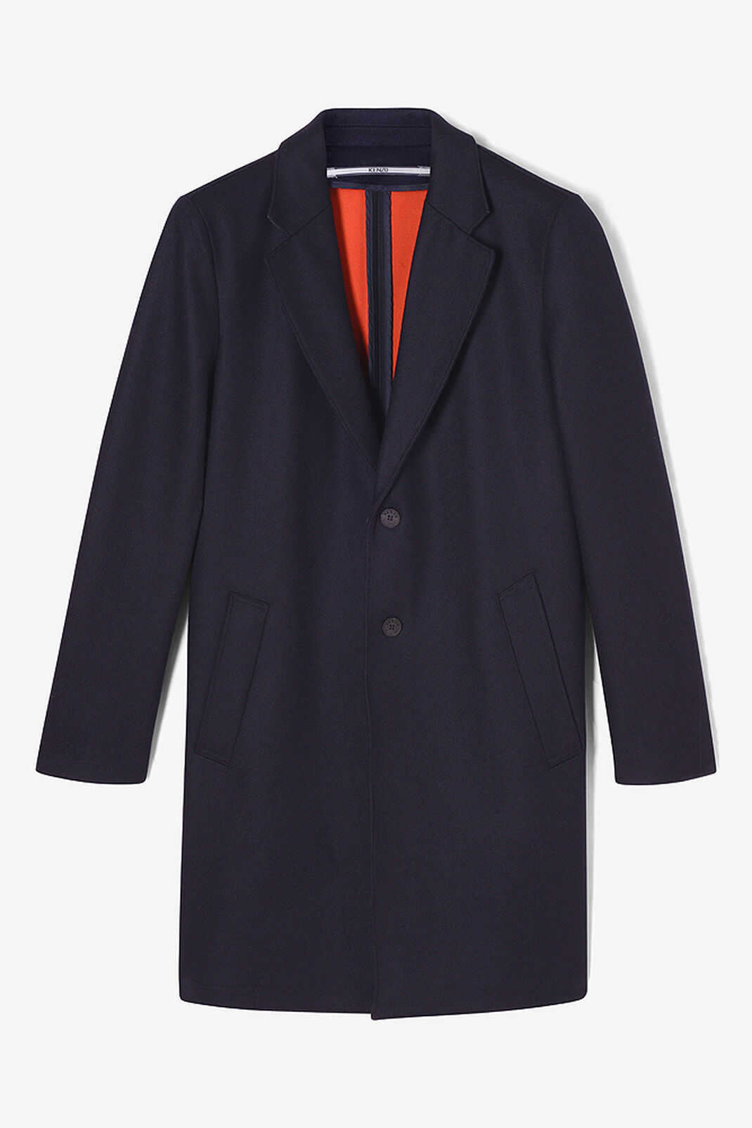NAVY BLUE Scuba Wool Coat for women KENZO
