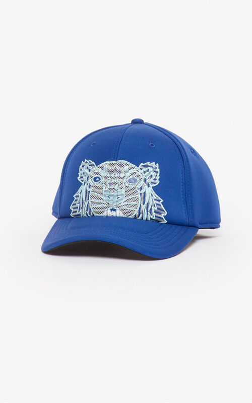 NAVY BLUE Tiger neoprene baseball cap for unisex KENZO