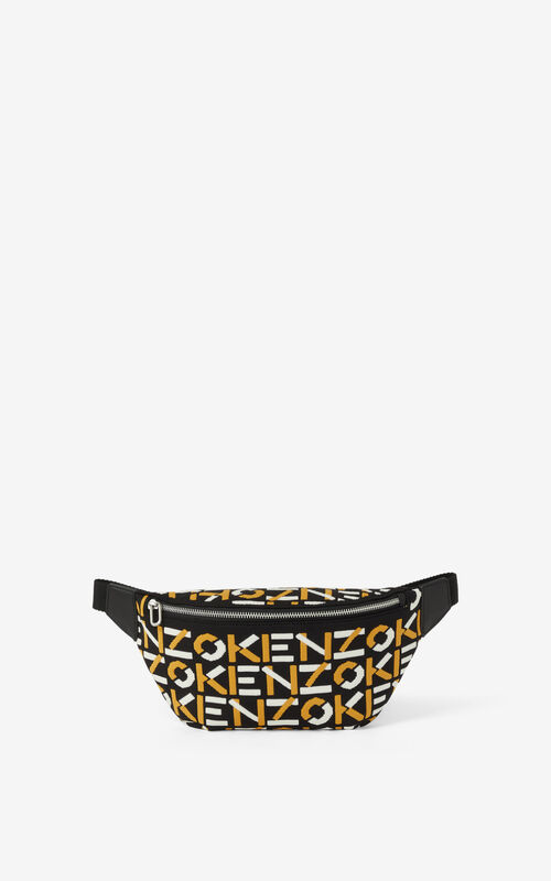 GOLDEN YELLOW Skuba monogrammed bumbag for unisex KENZO