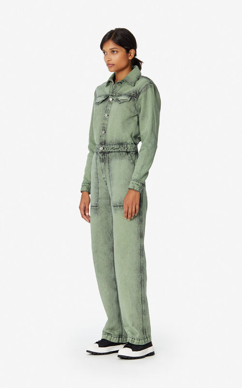 TEA GREEN Denim jumpsuit for women KENZO
