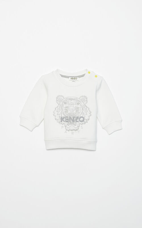 ECRU Lurex Tiger sweatshirt for women KENZO