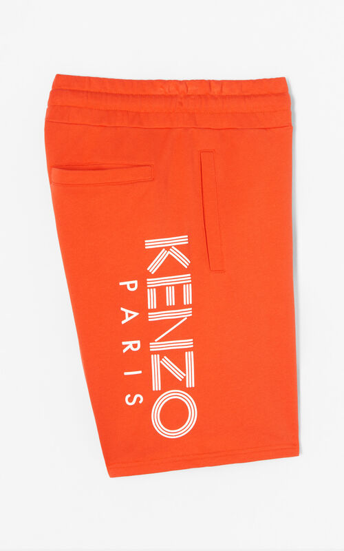MEDIUM RED KENZO Logo Shorts for global.none