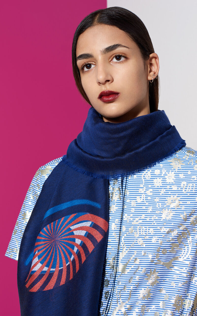 Eye x Nasa Scarf, MIDNIGHT BLUE, KENZO
