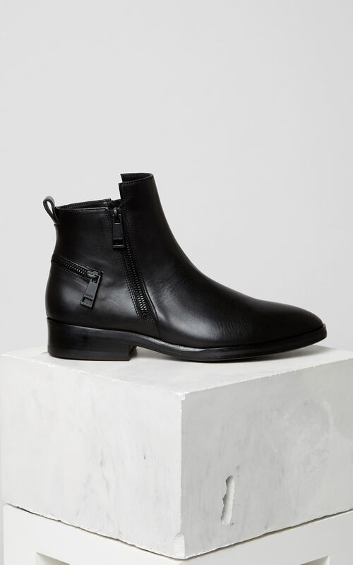 BLACK Totem Flat Boots for women KENZO