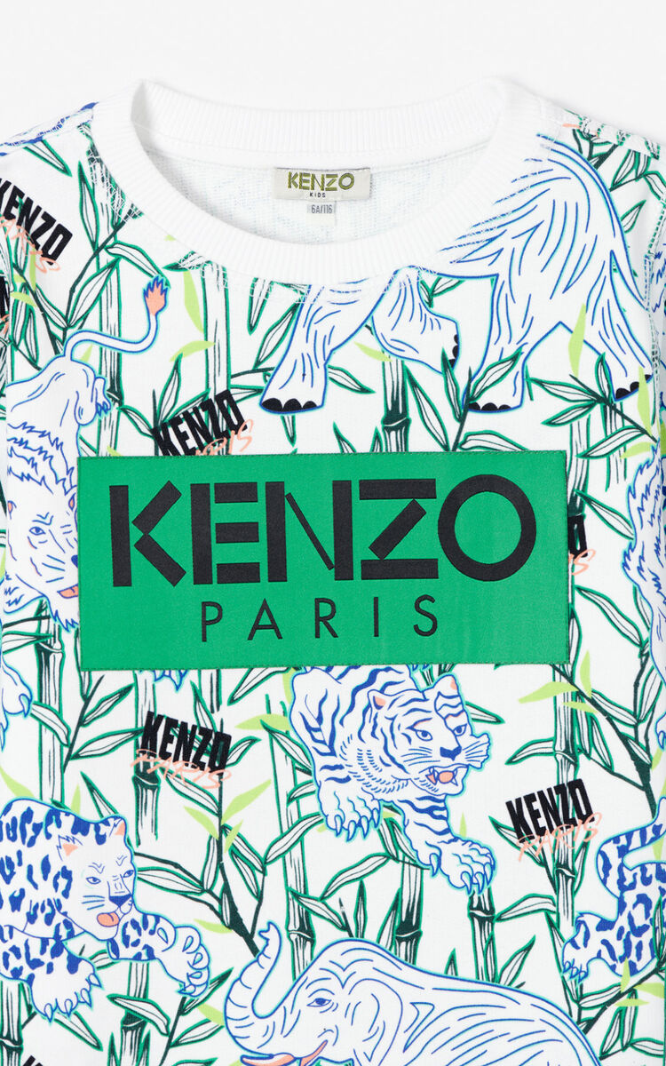WHITE 'Disco Jungle' sweatshirt for men KENZO