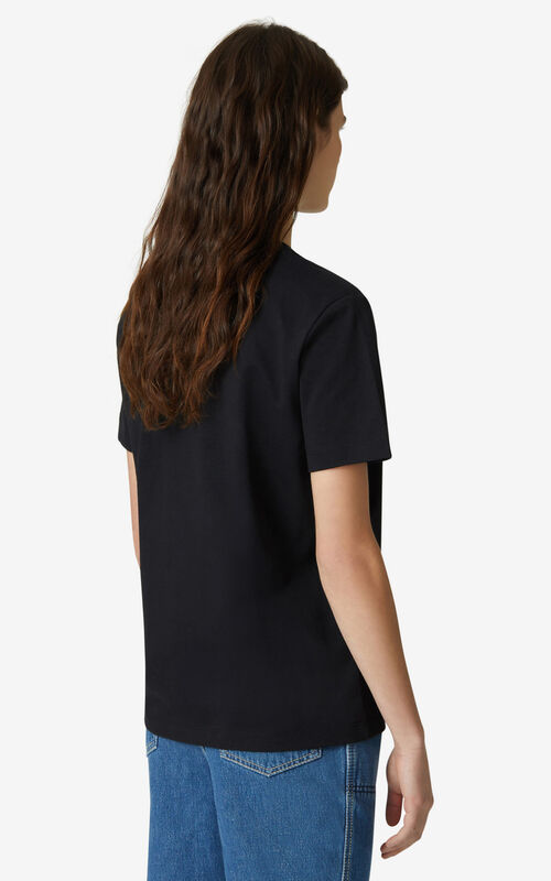 BLACK Tiger loose T-shirt for women KENZO