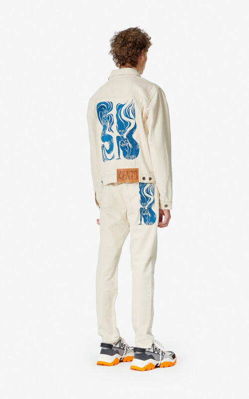ECRU 'Mermaid' denim jacket for men KENZO