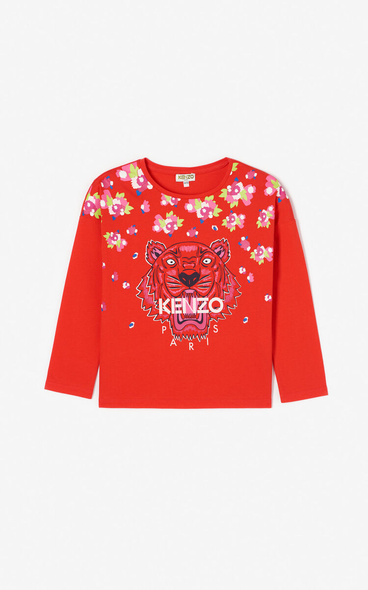 MEDIUM RED Tiger T-shirt for men KENZO