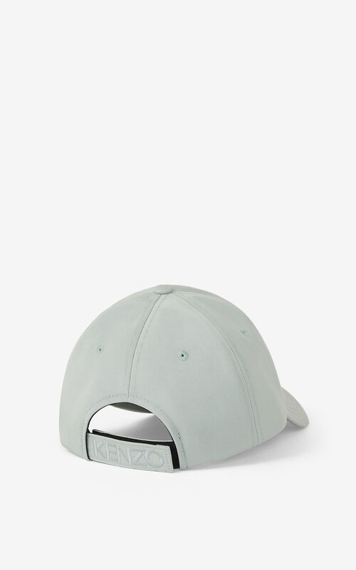 GREY GREEN Canvas Kampus Tiger cap for unisex KENZO