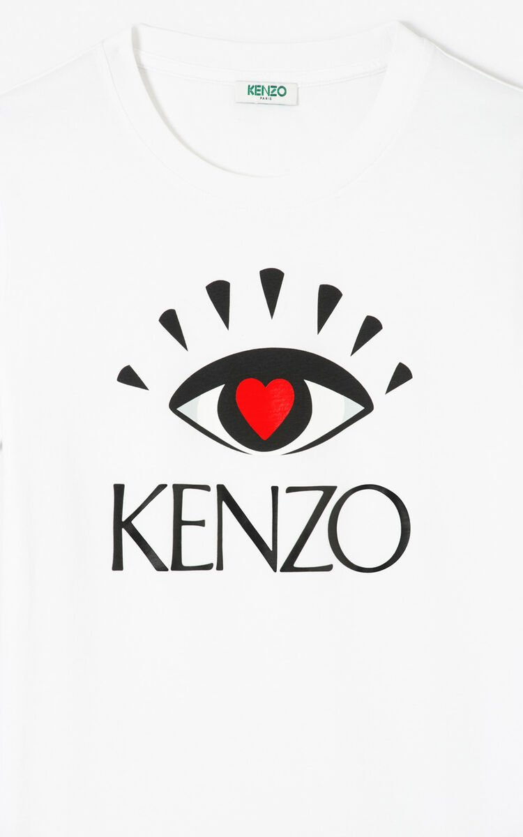 WHITE 'I ❤ KENZO Capsule' T-shirt for women