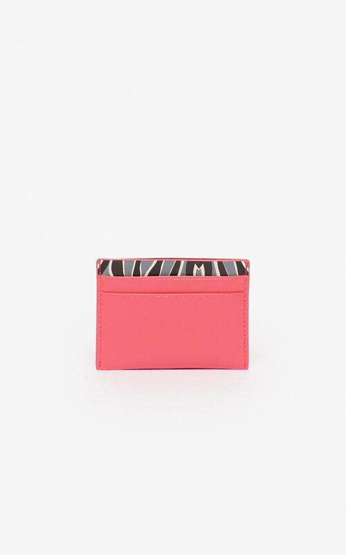 CORAL 'Tiny Tiger' card holder  for women KENZO