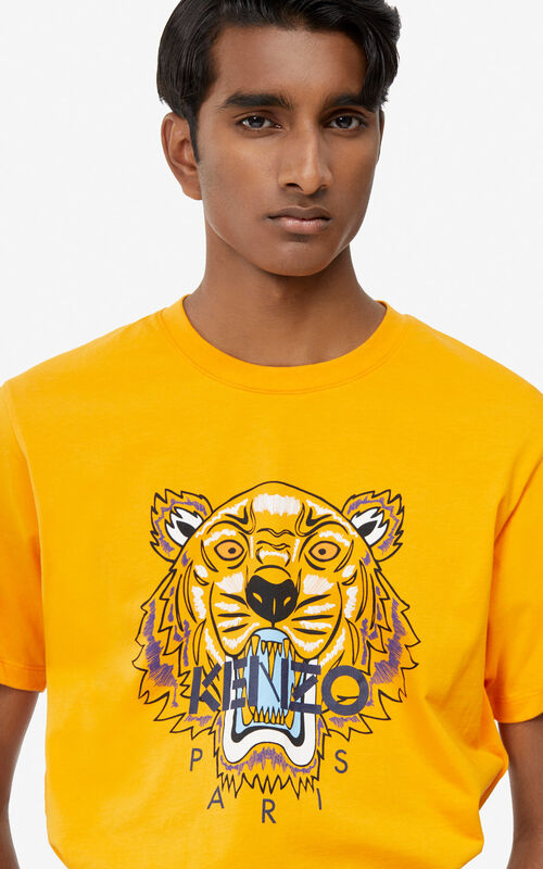 0efcbea74 MEDIUM ORANGE Tiger t-shirt for men KENZO ...