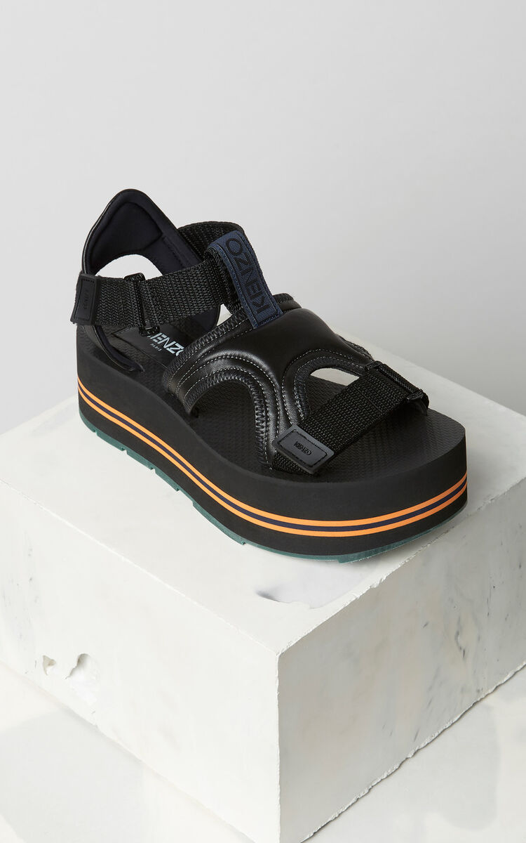BLACK Papaya sandals for women KENZO