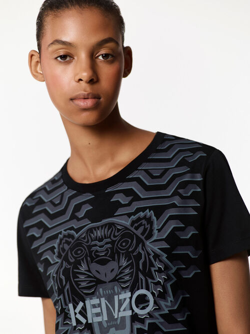 BLACK Geo Tiger t-shirt  for women KENZO