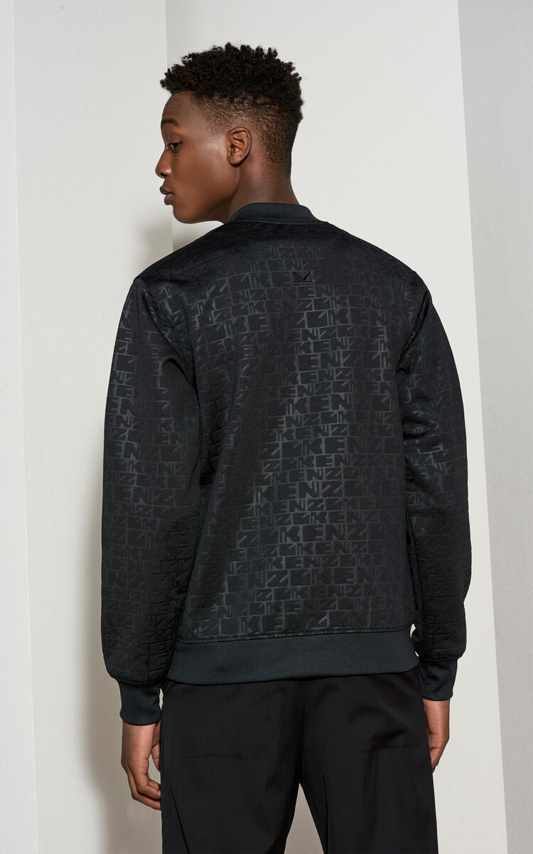 BLACK Monogram Bomber for men KENZO