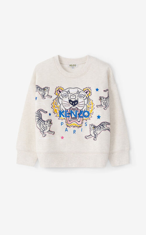 BEIGE Tiger sweatshirt for unisex KENZO