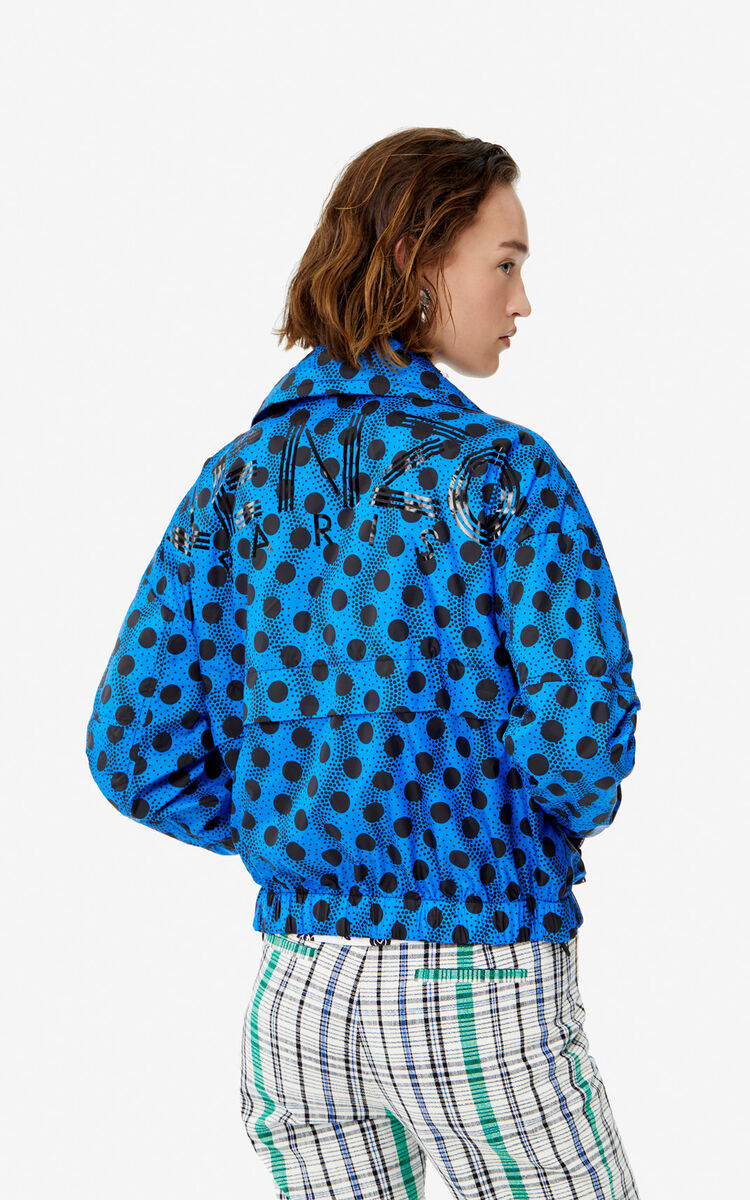 COBALT KENZO Logo 'Wavy Dots' windbreaker jacket for women
