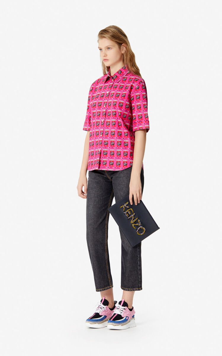 DEEP FUSCHIA 'Rice bags' shirt for women KENZO