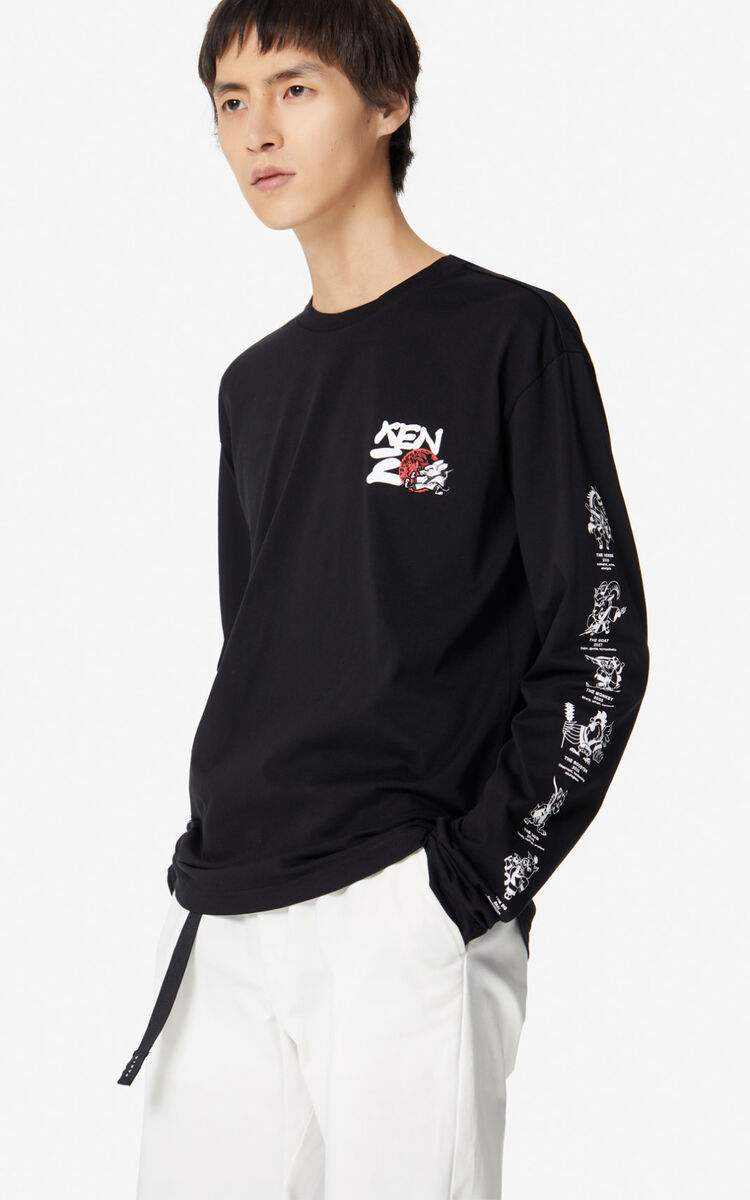 BLACK 'Chinese New Year Capsule' 'Kung Fu Rat' t-shirt for men KENZO