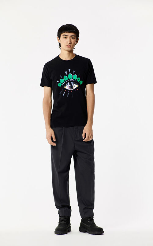BLACK 'Holiday Capsule Collection' Eye T-shirt for men KENZO