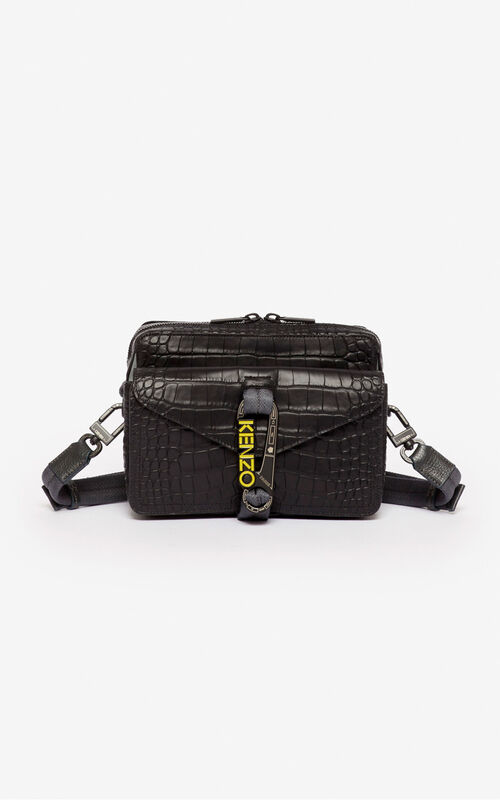 BLACK Hiker crossbody bag for unisex KENZO