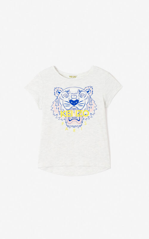 PALE GREY Tiger T-shirt for unisex KENZO