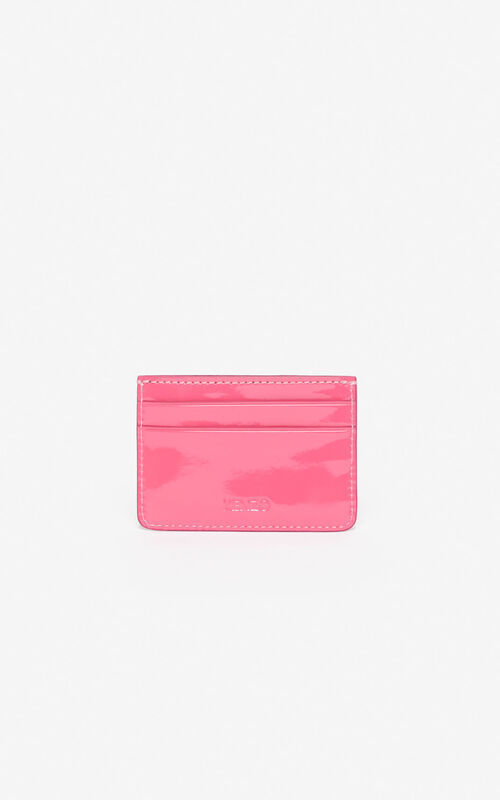 DEEP FUSCHIA Tiger card holder for unisex KENZO