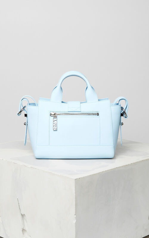 SKY BLUE Mini Kalifornia Gommato in leather for women KENZO