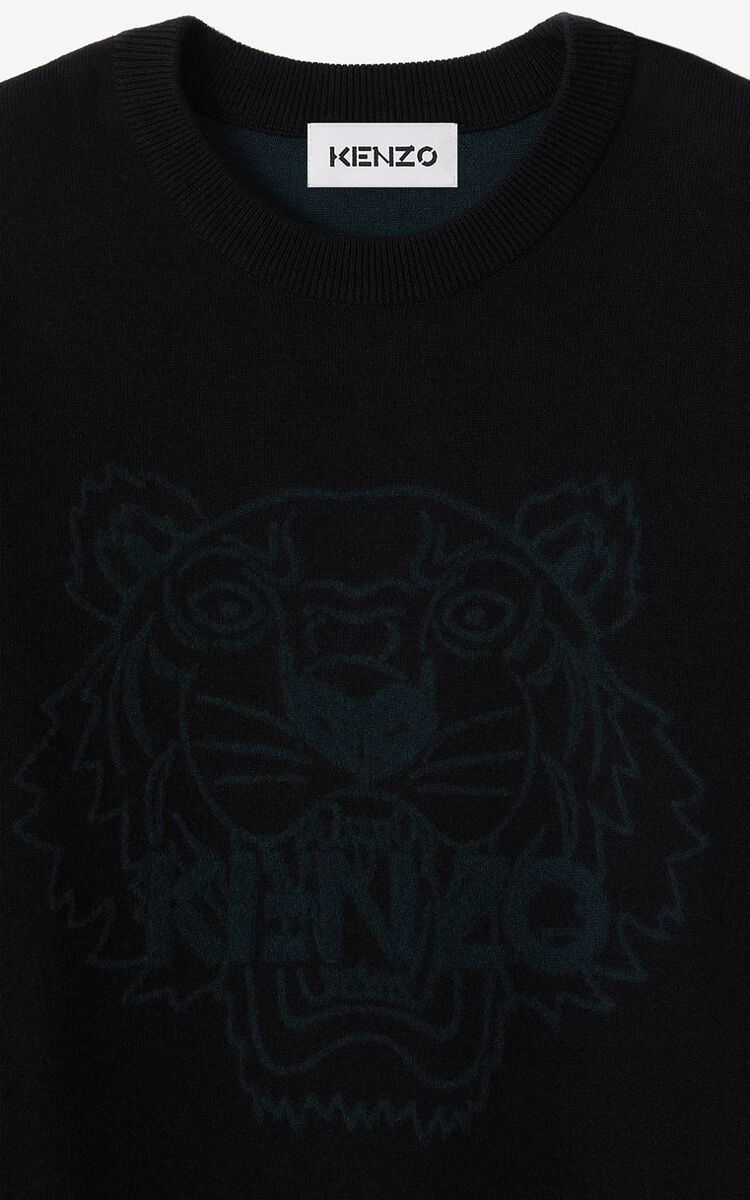 BLACK Tiger jumper for women KENZO