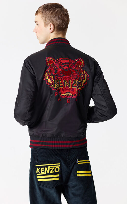 BLACK 'Chinese NY Capsule Collection' Tiger Bomber Jacket for men KENZO