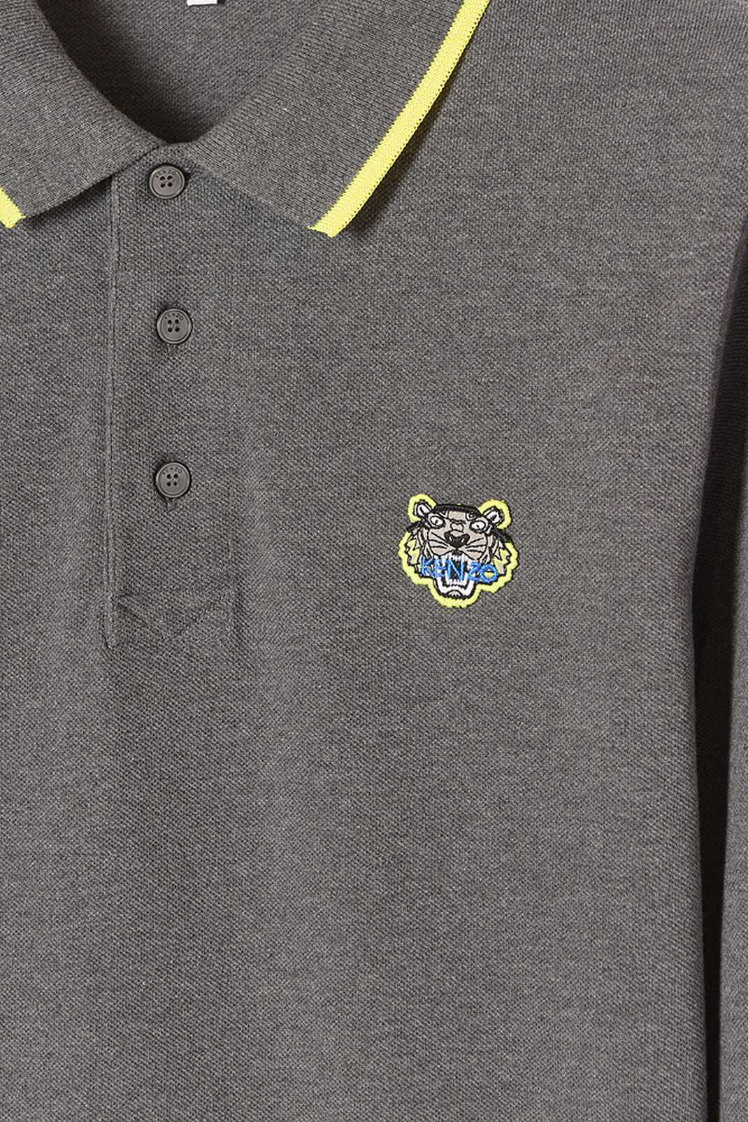 DARK GREY Long Sleeve Polo for men KENZO