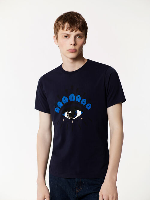 MIDNIGHT BLUE Eye T-shirt for men KENZO