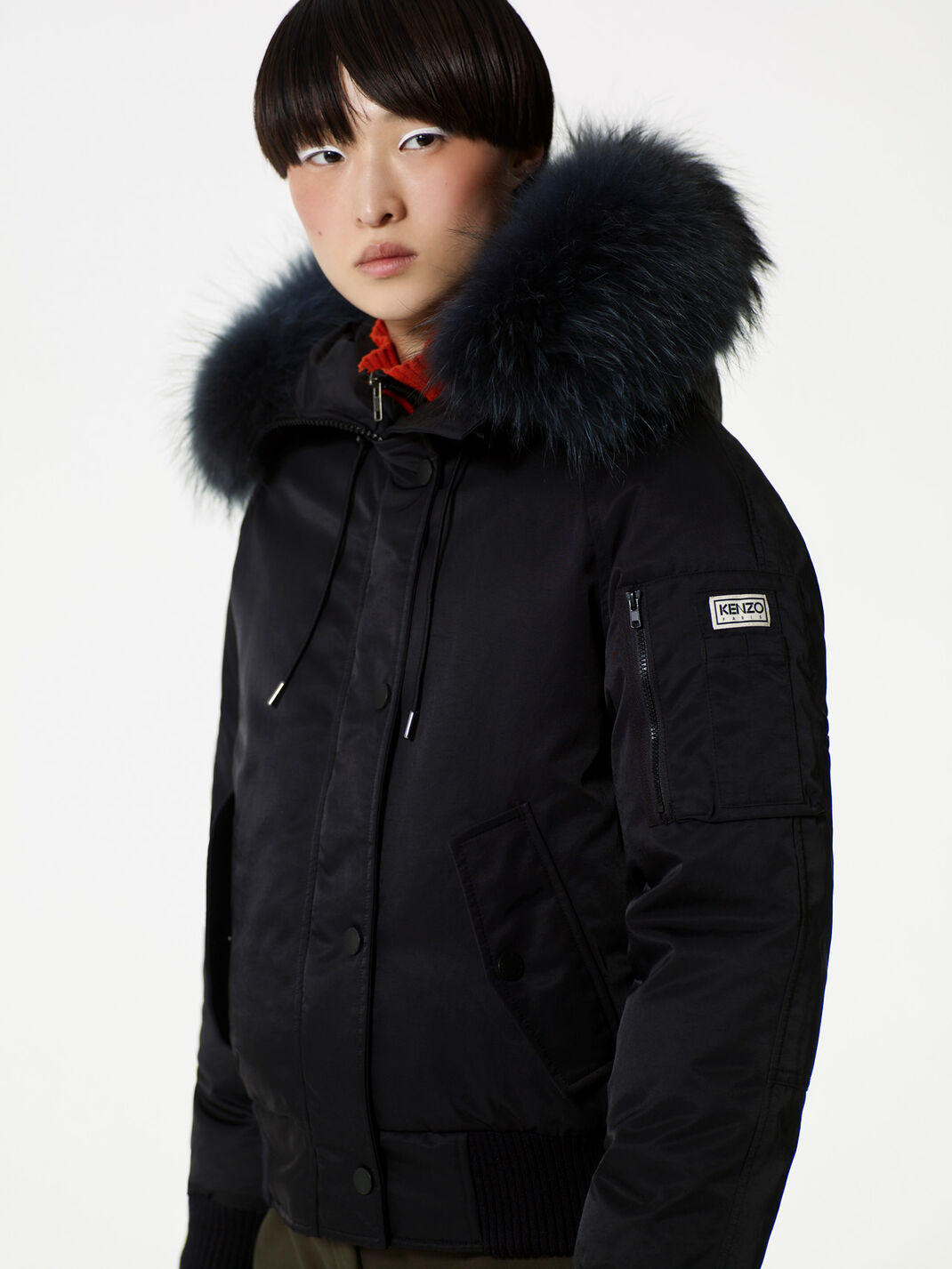 BLACK Puffa' Short Down Jacket for women KENZO
