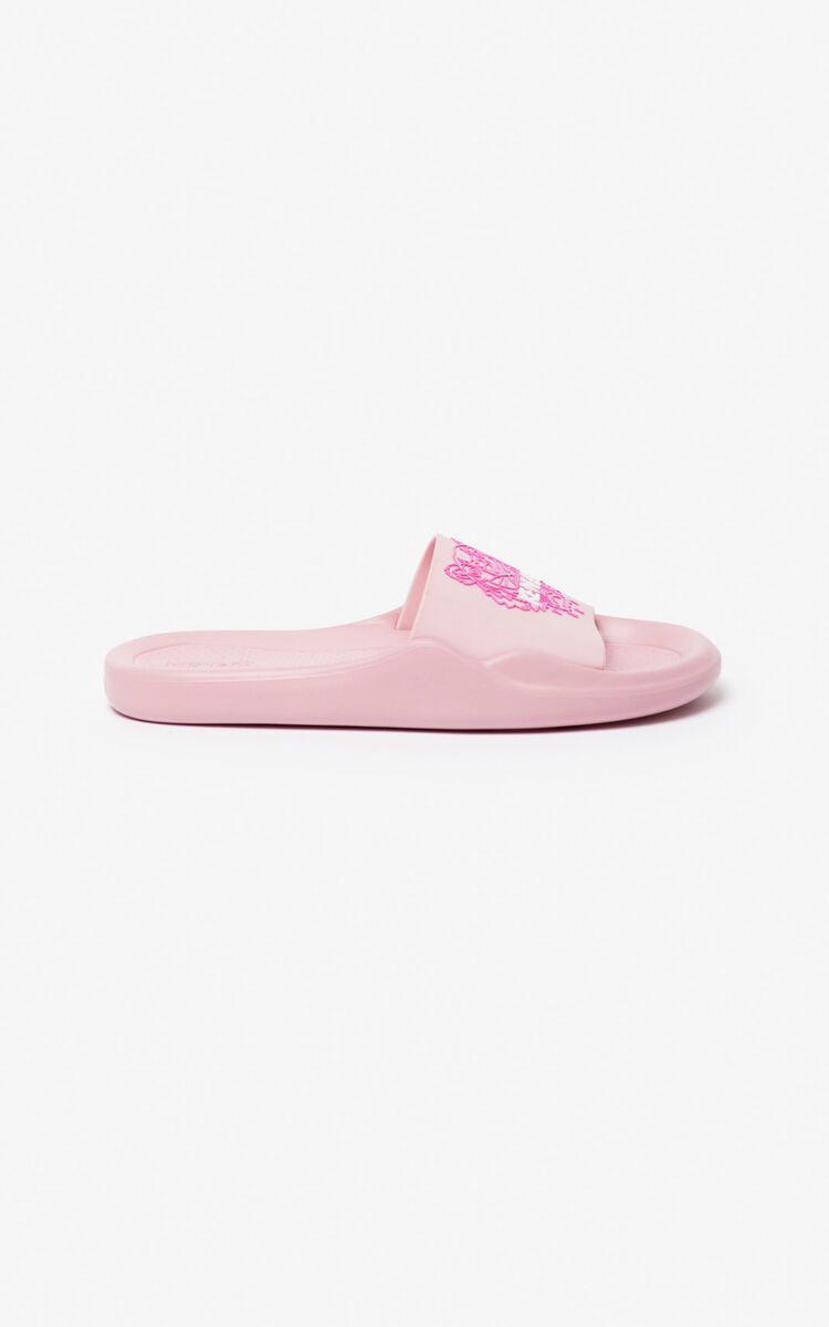 PASTEL PINK Tiger pool mules for unisex KENZO