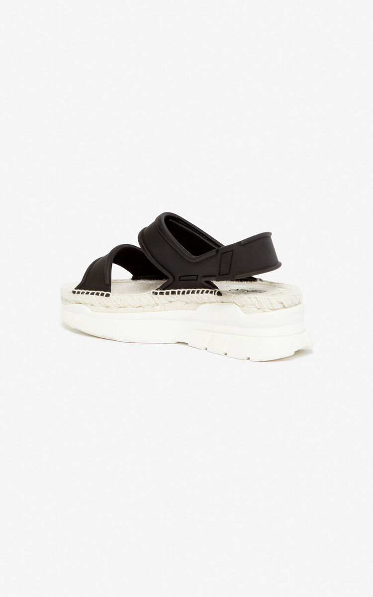 BLACK K-Lastic sandals for women KENZO
