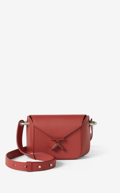 MOROCCAN BROWN KENZO K small leather crossbody bag  for unisex