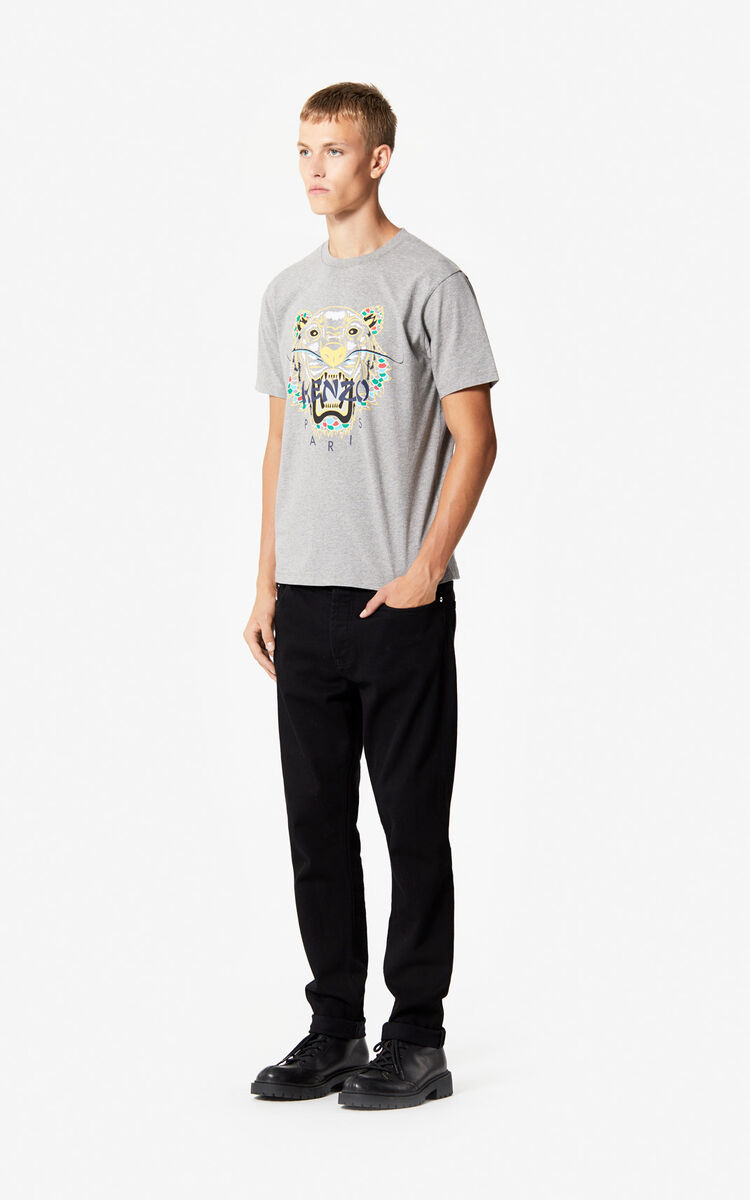 DARK GREY 'Dragon Tiger' T-shirt for men KENZO