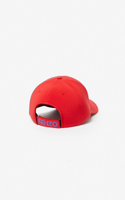 MEDIUM RED Neoprene Tiger cap for unisex KENZO